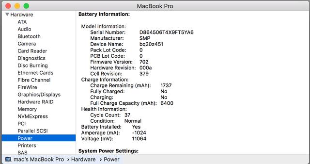 Kiểm tra dung lượng pin Macbook
